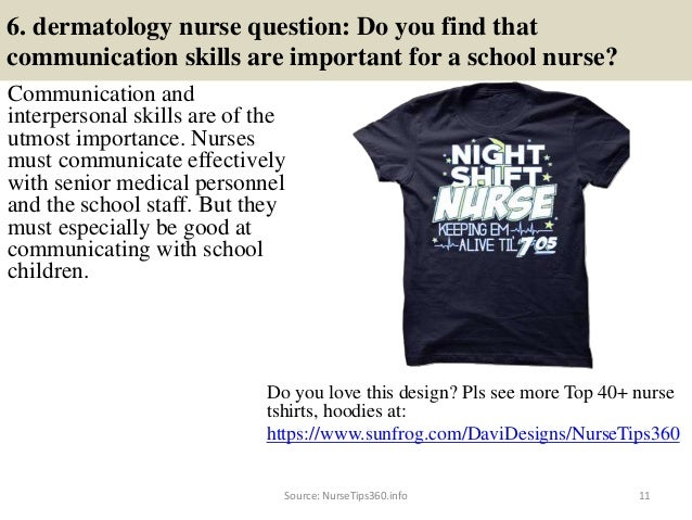 40 dermatology nurse interview questions and answers pdf