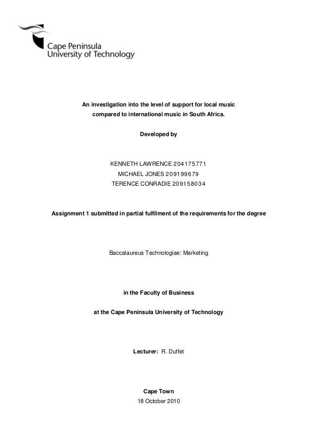 Dissertation music industry