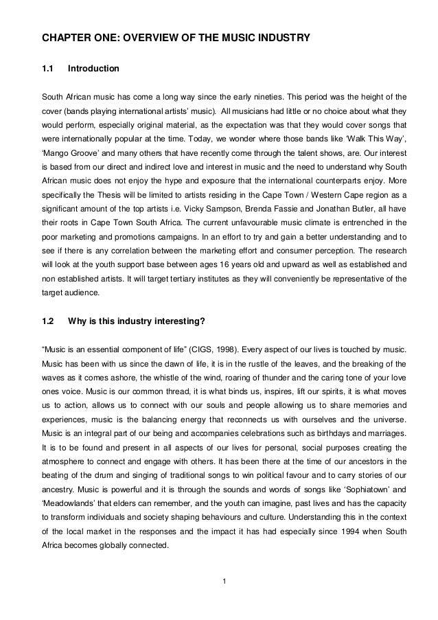 Music industry dissertation