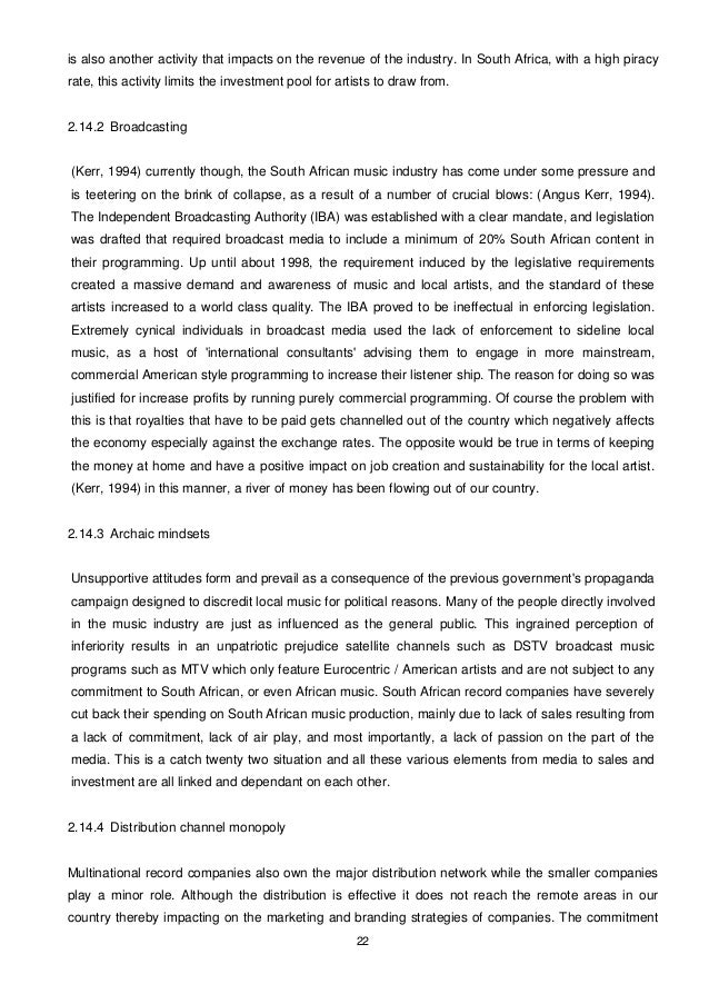 Music Industry Thesis Oct 2010