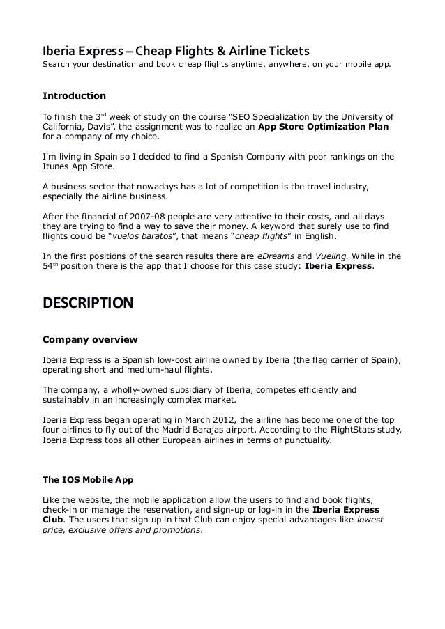 iberia airlines case study