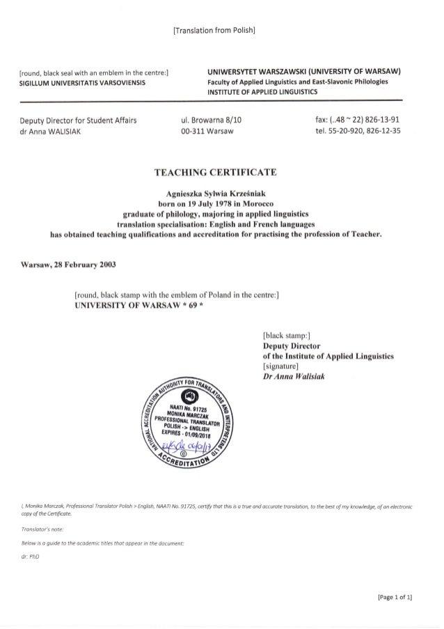A_Krzesniak_Teaching Certificate_EN