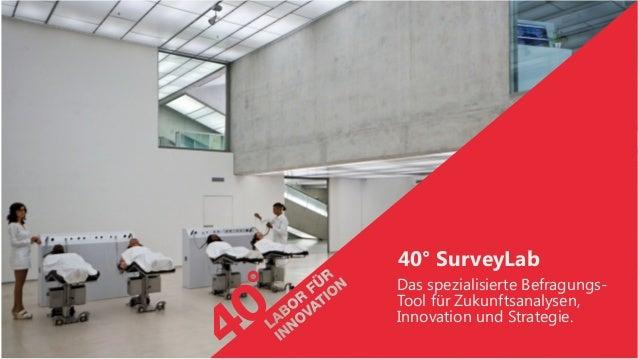 40° SurveyLab Das spezialisierte Befragungs- Tool für Zukunftsanalysen, Innovation und Strategie.