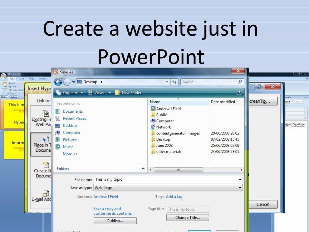 Create A Website Just In