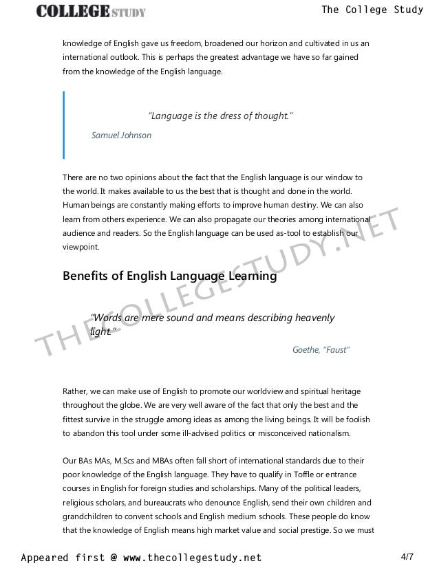 Population Essay In English  1984 Essay Thesis also Environmental Health Essay  Importance Of English Language Essay The College Study 1984 Essay Thesis
