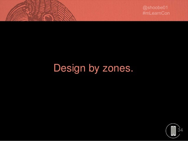 34 Design by zones.
