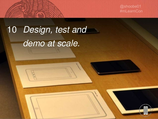 5757 10 Design, test and demo at scale.