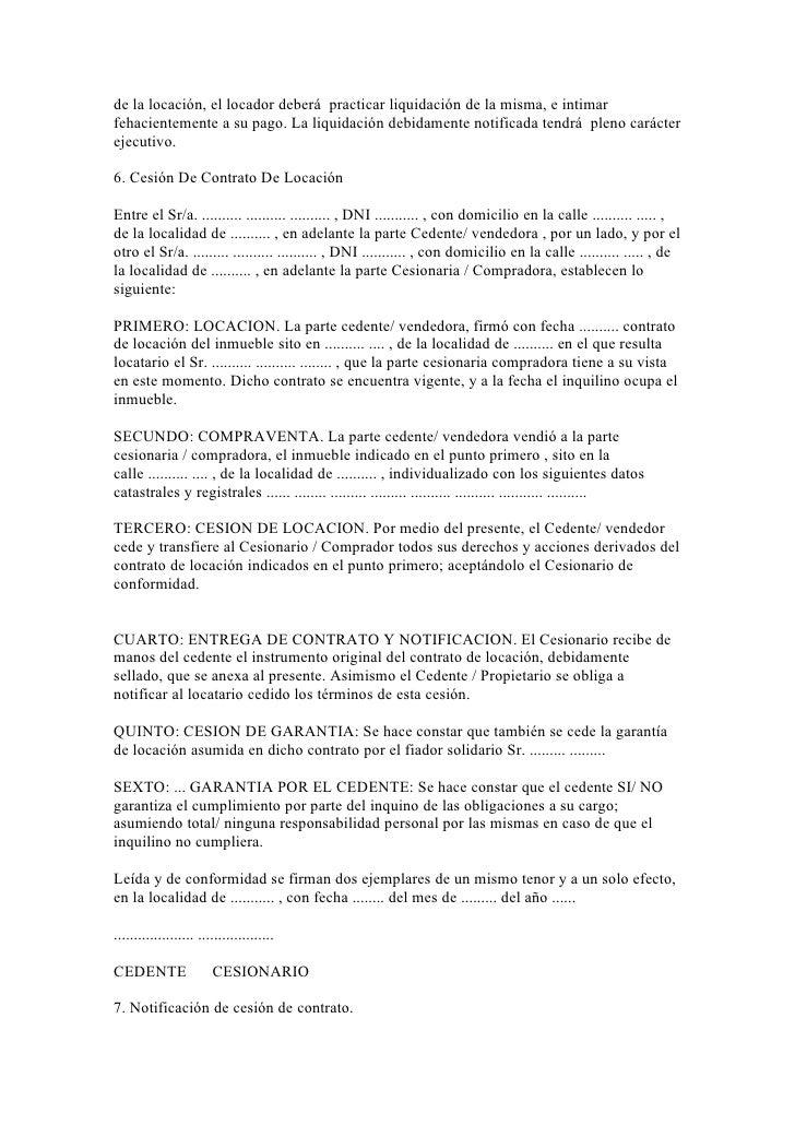 40 modelos de escritos inmobiliarios for Modelo contrato alquiler vivienda sencillo