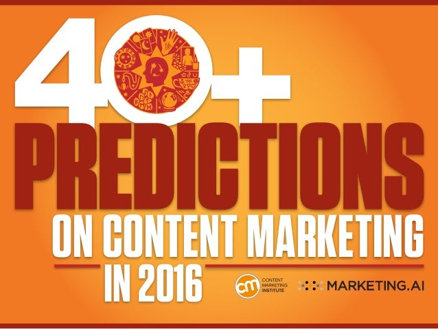 ON CONTENT MARKETING IN2016