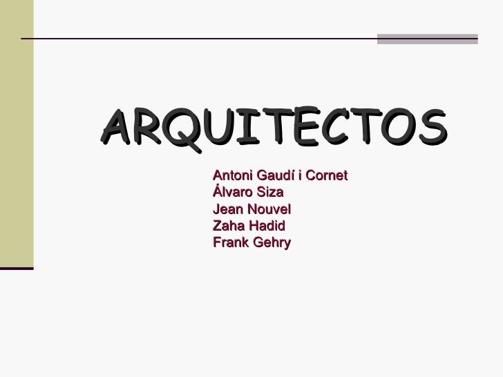 40 principales arquitectos for Estudios de arquitectura famosos