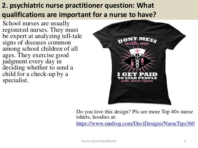 ... Requirements; 6. 2. Psychiatric Nurse Practitioner Question: ...