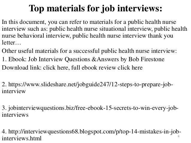 public health nurse interview