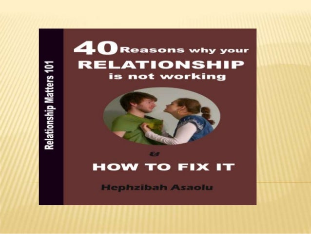 what to do if your relationship is not working