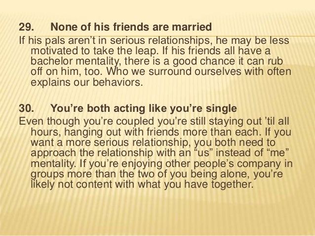 relationship not moving forward