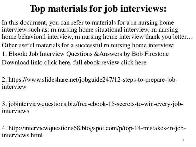 40 rn nursing home interview questions and answers pdf
