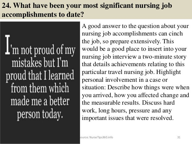 31 24 - Nursing Interview Questions And Answers