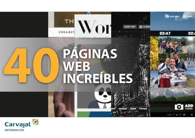 PÁGINAS WEB INCREÍBLES