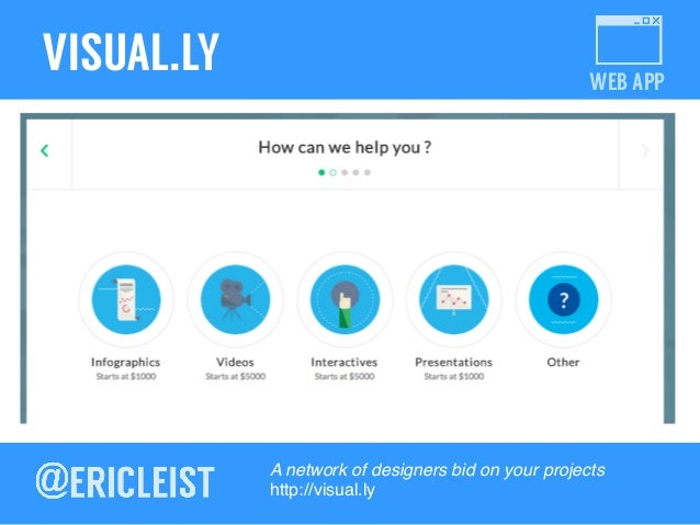 WEB APP VISUAL.LY A network of designers bid on your projects! http://visual.ly !