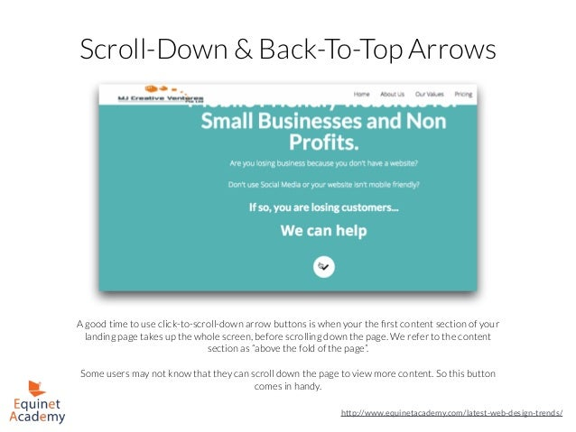 Scroll-Down & Back-To-Top Arrows A