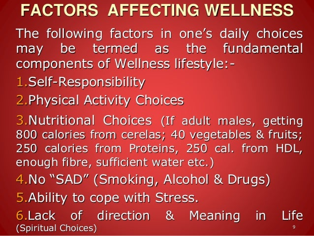 Introduction to wellness, relation of wellness adn