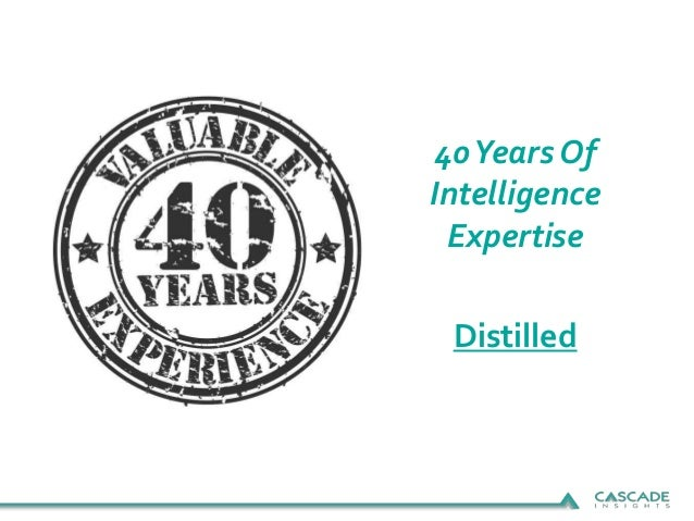 40Years Of Intelligence Expertise Distilled
