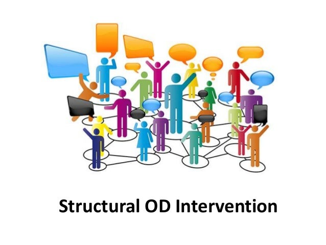 structural intervention Structural intervention 1 structural intervention by : bhumika garg 2 what are interventions • an intervention is a set of sequencedand planned actions or eventsand planned actions or events intended to help the organization intended to help the organization increase its effectiveness.