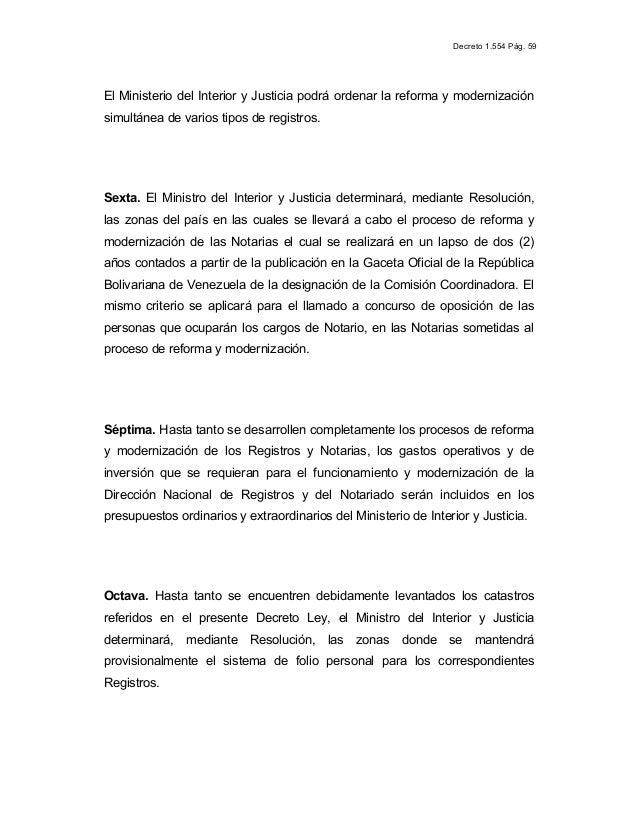 41 ley de registro publico y del notariado revolucion for Registro ministerio del interior