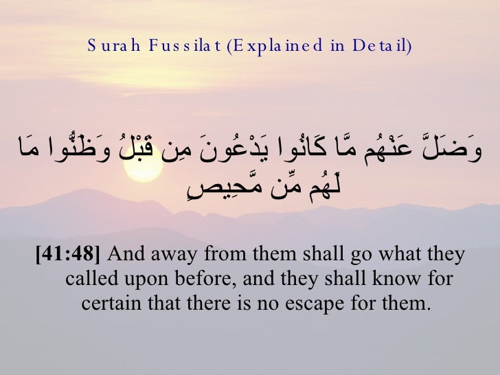 41 Surah Fussilat (Explaned In Detail)