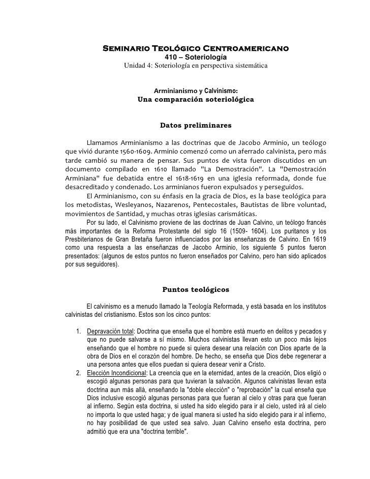 Seminario Teológico Centroamericano                                   410 – Soteriología                      Unidad 4: So...