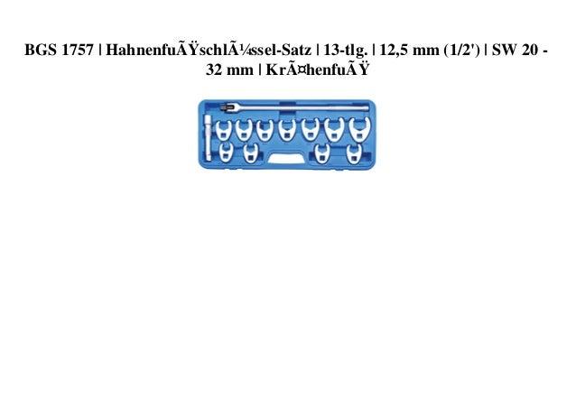 BGS 1757 | Hahnenfußschlüssel-Satz | 13-tlg. | 12,5 mm (1/2') | SW 20 - 32 mm | Krähenfuß