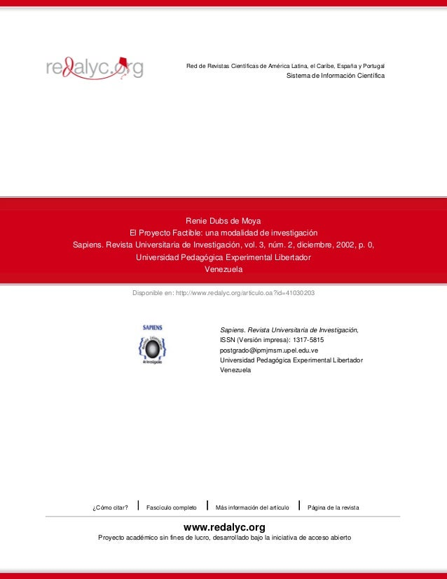 Red de Revistas Científicas de América Latina, el Caribe, España y Portugal  Sistema de Información Científica  Renie Dubs...