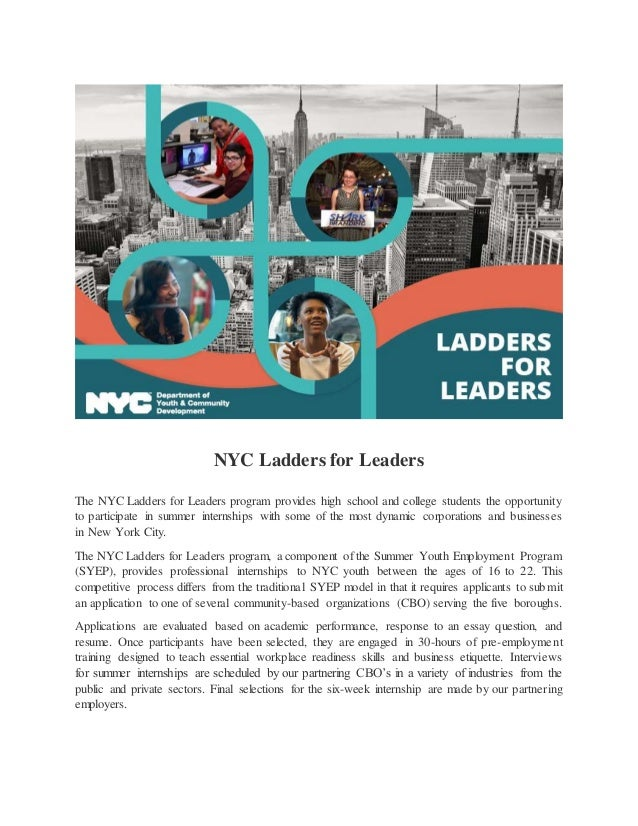 nyc ladders for leaders essay