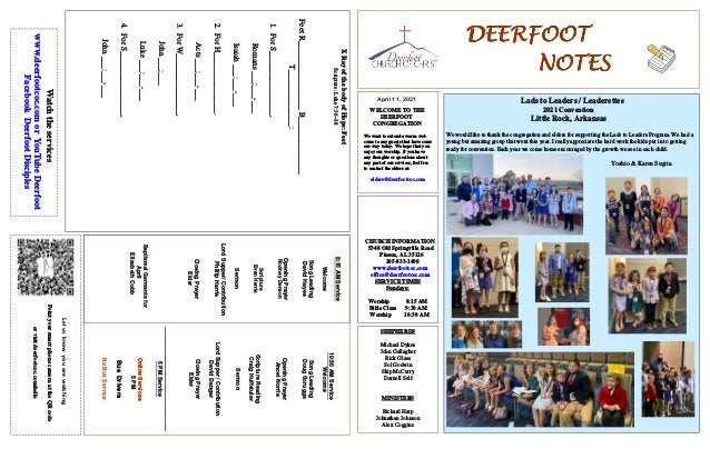 DEERFOOT DEERFOOT DEERFOOT DEERFOOT NOTES NOTES NOTES NOTES April 11, 2021 Let us know you are watching Point your smart p...