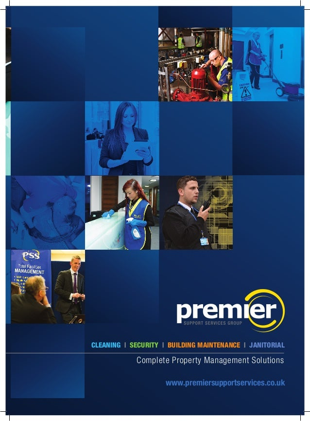 Premier services brochure for Security company brochure template