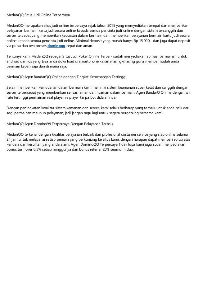 Medanqq Bandarq Online Qq Online Dominoqq Poker Online