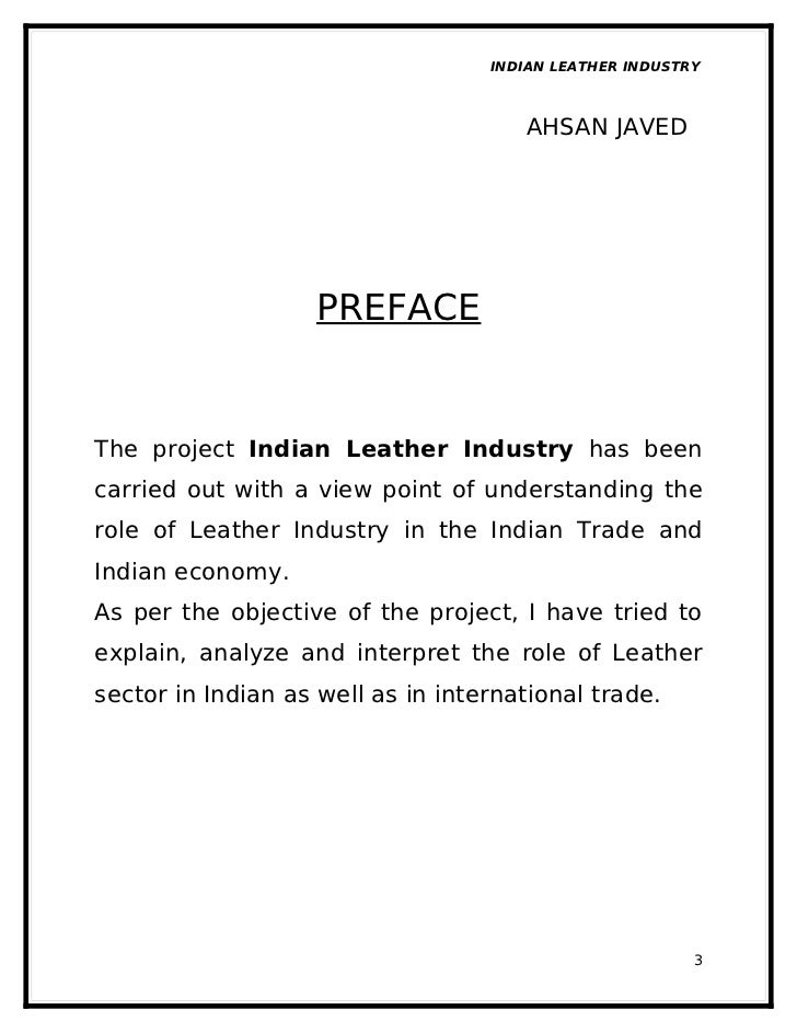 indian leather industry The leather industry in india holds a very prominent place in the indian economy the leather and leather products industry is one of the oldest manufacturing.