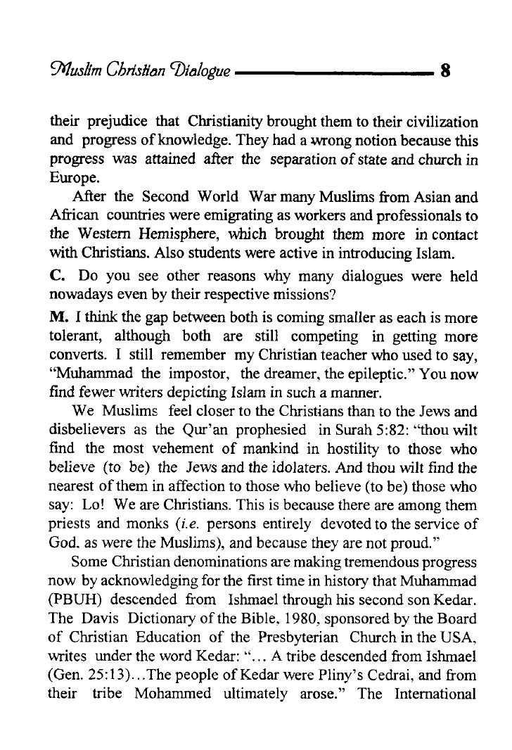 muslim christian dialogue essay Request pdf on researchgate   on jul 1, 2011, dallh, op, minlib and others published a christian view of islam: essays on dialogue – by thomas michel.