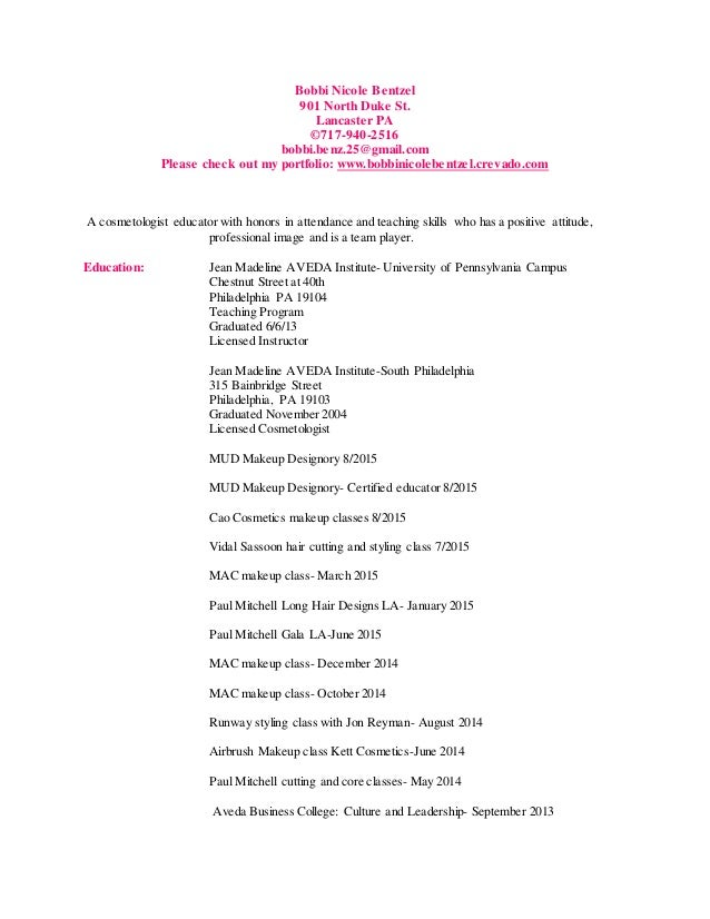 How to Write a Perfect Cosmetology Resume Ex&les Included