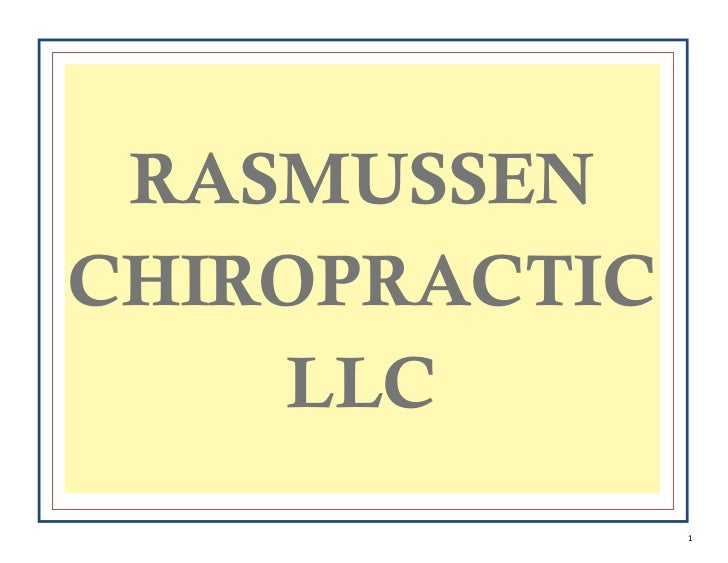 RASMUSSENCHIROPRACTIC    LLC               1