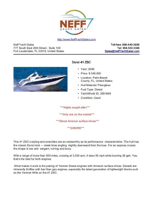 41' 2006 donzi 41 zsc for sale neff yacht sales
