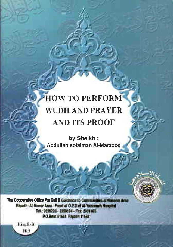 OW TO PERFORM                                WUDHAND PRAYER                                 AND ITS PROOF                 ...