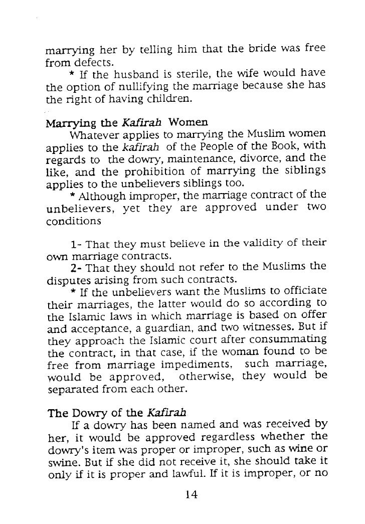 The Book Of Nikah Marriage