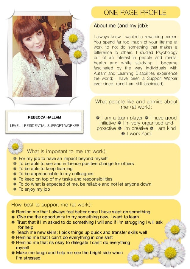 My One Page (Work) Profile