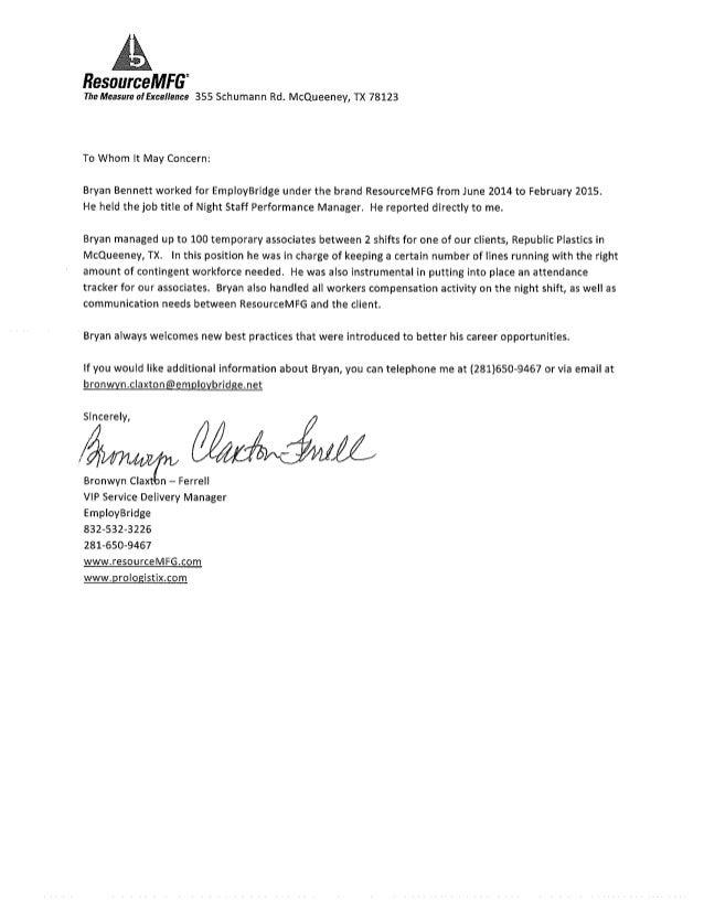 Bryan Referral Letter