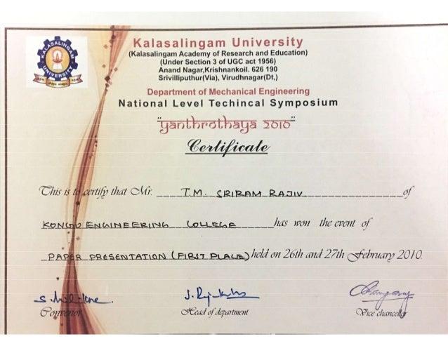 presentation certificate