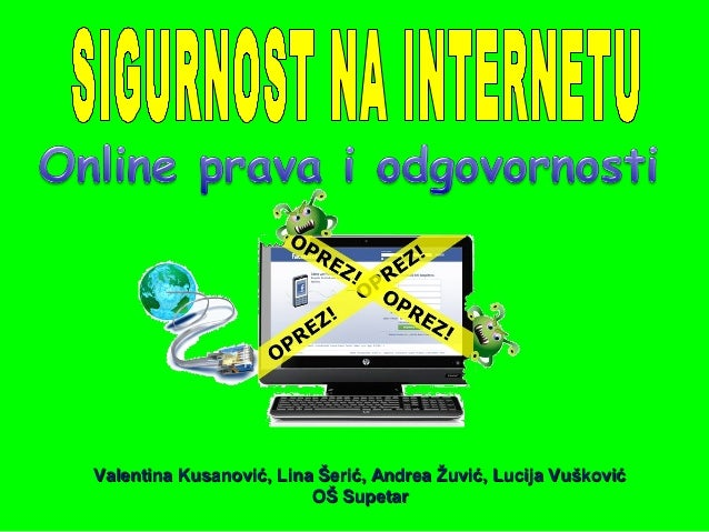 Valentina Kusanović, Lina Šerić, Andrea Žuvić, Lucija Vušković                         OŠ Supetar