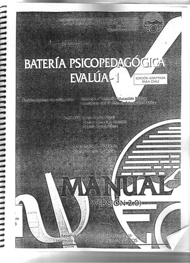 Evalua 0 version chilena pdf