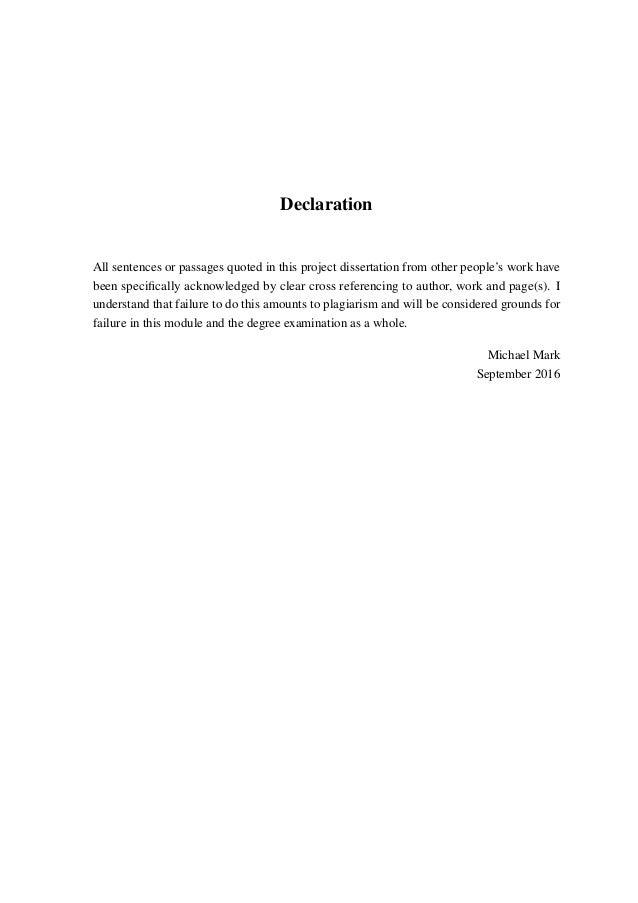 Dissertation marks