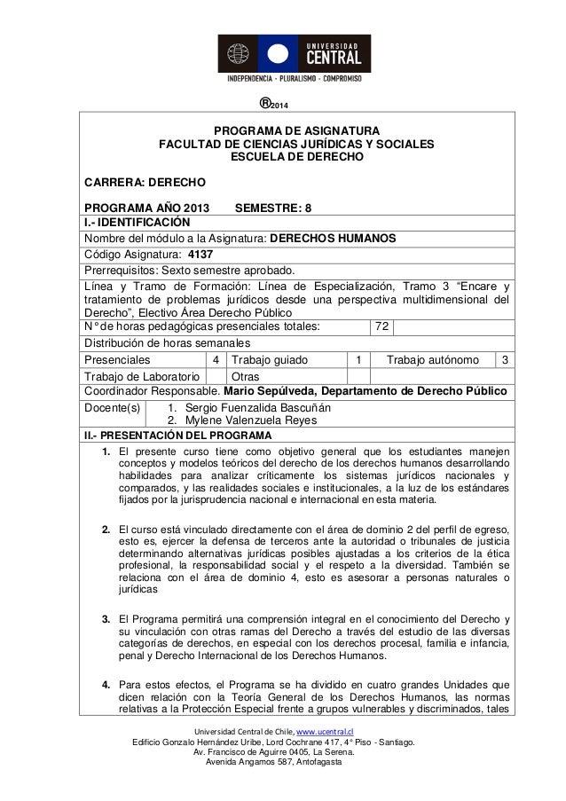 Universidad Central de Chile, www.ucentral.cl Edificio Gonzalo Hernández Uribe, Lord Cochrane 417, 4° Piso - Santiago. Av....