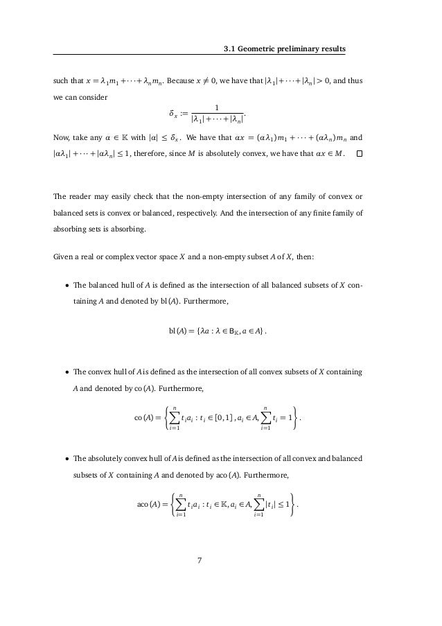 3. PRELIMINARY RESULTS Let a ∈ A and ,τ > 0 such that BY (a, ) ⊆ A ⊆ BY (a,τ). Finally, it suffices to notice that a − τ + ...